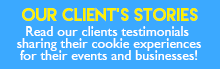 Client Story and Testimonials about our Custom Cookies