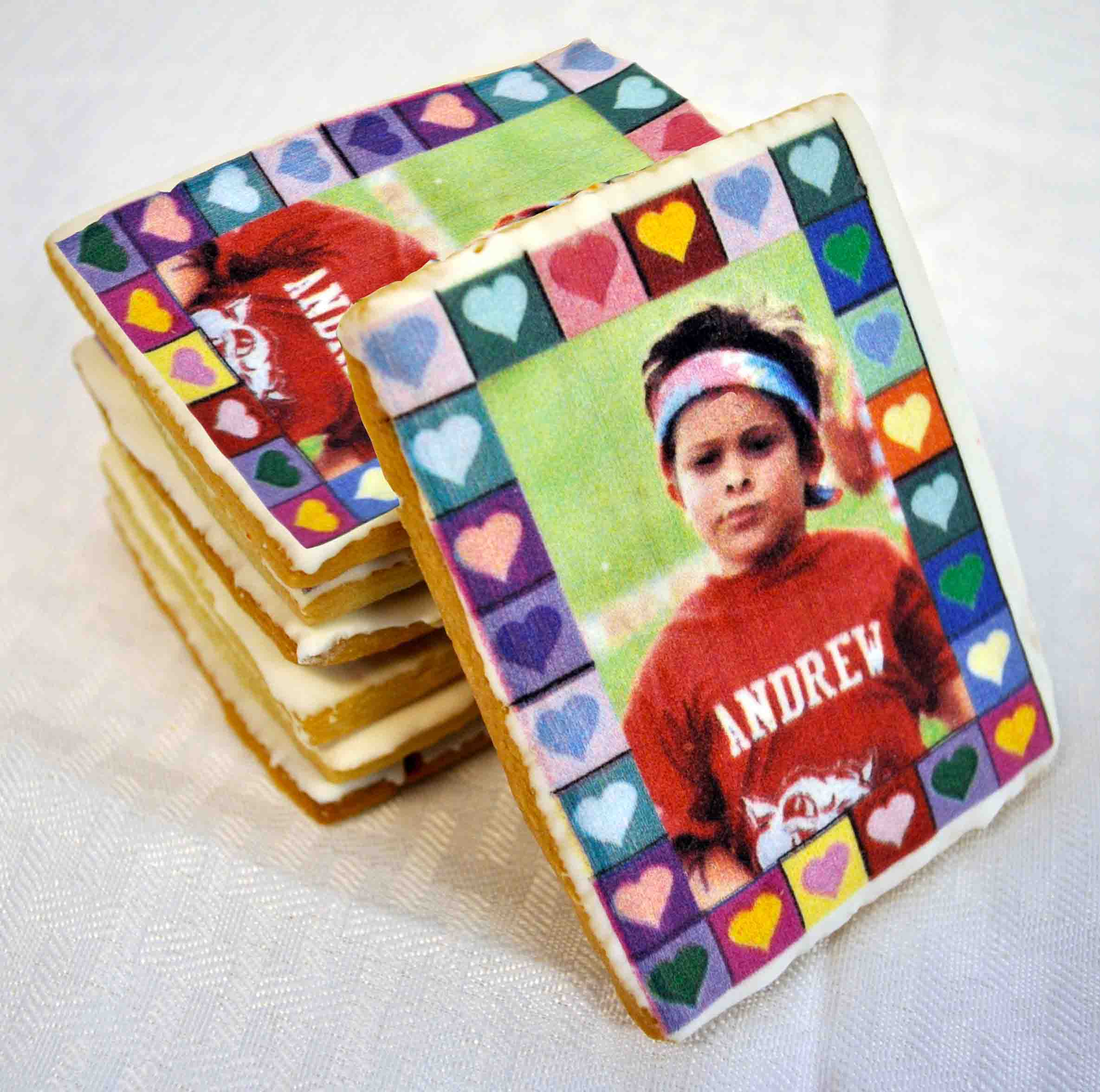 photo cookies, custom cookies, personalized cookies, picture cookies, cookies with a photo